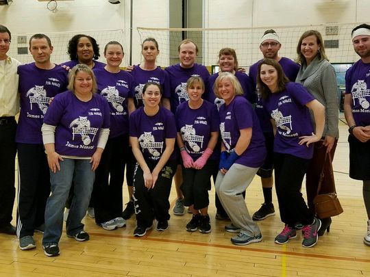 The James Monroe Elementary School team that participated in the 2017 ETEA Charity Volleyball Tournament.